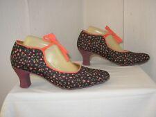 5a6660ac7244 Escarpins noirs à motif Fleuri pour femme