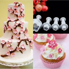 DIY Plastic Flower Fondant  Cake Cutter Mold Plunger Sugarcraft Bake Large Small
