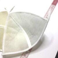 Bra Cup Pads - Beige Nude Size 12 - Pair Spun Dacron / Nylon Tricot White Swim