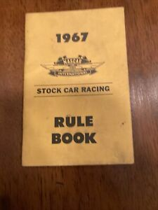 RARE 1967 NASCAR International Rule Book Auto Race Stock Car Racing vintage