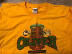 Oliver 70 Tractor Gold T-Shirt - Size Large