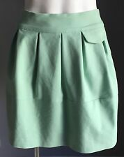 Retro NWOT Mint Green DOTTI Pouf Pleated Mini Skirt Size 6