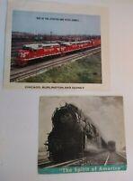Railroad Locomotive Train Magazine Advertising Clippings The Spirit of America