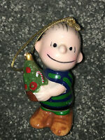 PEANUTS Linus Charlie Brown 1952 CHRISTMAS ORNAMENT Schulz SNOOPY Japan VINTAGE
