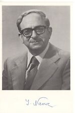 YITZHAK NAVON HAND SIGNED 4x6 PHOTO+COA     AWESOME+RARE     5th PRES. OF ISRAEL