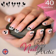 40 x Nail Art Water Transfers Stickers Wraps Decals Mouse Gr2