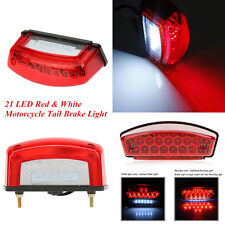 Universal Motorcycle ATVs Scooters 12V 21LED Tail Brake Lamp License Plate Light