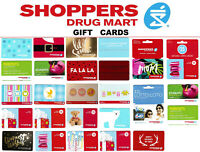 gift cards SHOPPERS DRUG MART ⚕️℞  SDM pharmacy store Collectible Canada