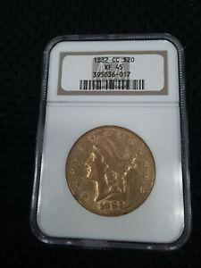 1882 CC $20 Gold NGC XF45