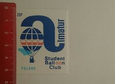 Aufkleber/Sticker: Simatur Poland Student Balloon Club (10121664)