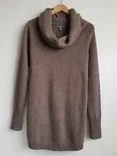 GAP LADIES BROWN 100 %LAMBSWOOL ROLL NECK JUMPER SIZE S UK 8-10