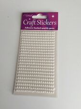 Self Adhesive Pearls White 3mm