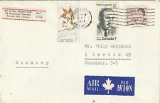 1971 Canada cover from Toronto ONT to Berlin Germany