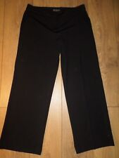 MARKS AND SPENCER AUTOGRAPH WEEKEND BLACK TROUSERS WITH STRETCH SIZE 12 SHORT