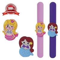 Mermaid Slap Bands Kids Girls Wrist Birthday Christmas Party Bag Filler Toy Gift