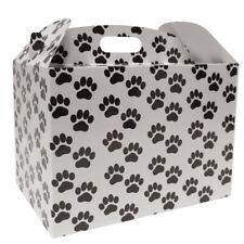 PAW PRINT GIFT BOXES - Gable Boxes Christmas Gift Hamper Pet Gift Baskets (pk10)
