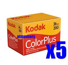 5 Rolls Kodak Color Plus 200 35mm 36 Film for Color Print Exp2023