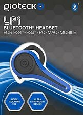 Gioteck Blue LP-1 Bluetooth Chat Headset PS4 PS3 PC MAC Mobile Cell Phone NEW