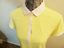FAIRWAY & GREENE YELLOW & PINK FIVE BUTTON COLLARED GOLF POLO $95 2/24/19