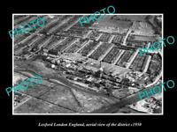 OLD LARGE HISTORIC PHOTO LOXFORD LONDON ENGLAND AERIAL VIEW OF DISTRICT c1950 1