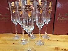 6 X Royal Brierley Hand Made Cut Crystal Glass,s Avignon Flute