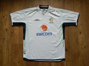 REPUBLIC OF IRELAND WORLD CUP 2002 FOOTBALL AWAY SHIRT JERSEY ,MENS L