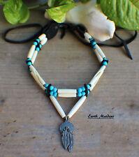 Native American Choker w/ Feather Concho Cherokee made William Lattie Cert Auth