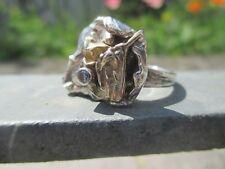 RARE * Designer Ring * Bartel & FILS * Argent 925 * permet. * zirconium? * environ 70er J * RG 65/25
