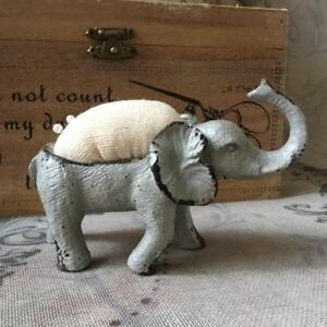Elephant Pin Cushion Vintage Antique Shabby Chic Style Sewing Crafters Gift
