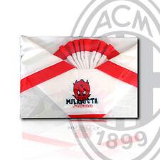 Completo lettino bimbo color rosso bianco MILAN PRODOTTI UFFICIALI 100% cotone