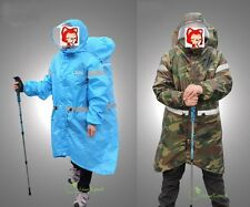 Camping Hiking Poncho Raincoat with Raincover Rain Cover  Max for 70L Backpack
