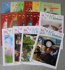 16 riviste LA BACCHETTA MAGICA MINIATURE - creazioni in pasta sintetica roombox