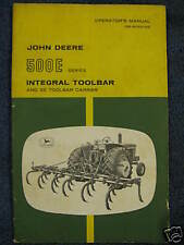 John Deere 500E Toolbar and 5E Carrier Operator Manual