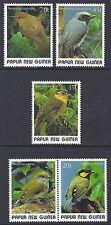 1989 PAPUA NEW GUINEA SMALL BIRDS SET OF 5 FINE MINT MUH/MNH