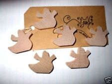 Small Wood Ghost Shape x 6  Halloween Primitive Tags