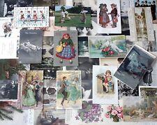 Lot / Konvolut 50 AK Glückwunsch Postkarten Kinder Kitsch Frauen vor 1945