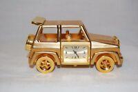 Timex Collectible Mini Car SUV Jeep Auto Clock Gold Tone Doll House Shelf