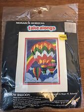 "Vintage Longstitch kit hot air balloon, Monarch Horizons ""Rainbow Balloon"" NIP"