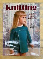 Knitting-Stitches & Patterns-Diana Biggs-Technics-Crafts-Toys-Dolls-Gift-Vintage