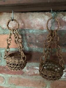 Baskets,  small hanging decorative baskets, 2