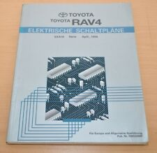 Toyota RAV4 Elektrische Schaltpläne SXA10 Elektrik Werkstatthandbuch 04/1994