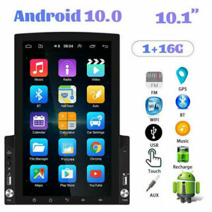 """2Din 10.1"""" Android10.0 Car Stereo Radio GPS WiFi Vertical Touch Screen FM Player"""