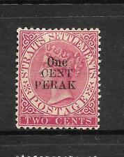 PERAK  1887-89  1c on  2c    QV      MH   SG 40