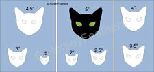 NEW-Cat Faces~Shapes STENCIL~DIY U Paint Halloween Scary Kitty Holiday Party