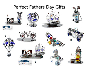 Crystocraft Fathers Day Mens Gift Crystal Figurine Ornament Swarovski Present