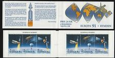 1991 SWEDEN Europa (C.E.P.T.) in space booklet of 6 MNH SG 1585-7 Mi 1663-5