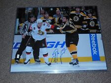 Boston Bruins Milan Lucic Autographed 16x20 Fight Photo Pose 2