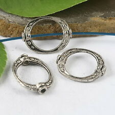 30pcs tibetan silver crafted oval bead frame h0932