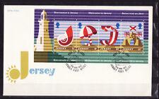 Jersey  enveloppe   bloc feuillet  tourisme   1975