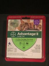 Bayer Advantage Ii For Large Cats over 9Lbs 4 pack #2246 New Flea Treatment
